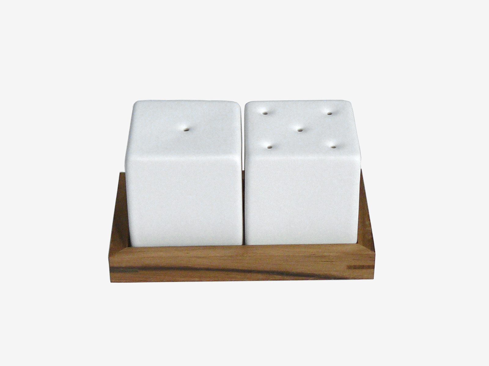Spice Dice salt and pepper shakers