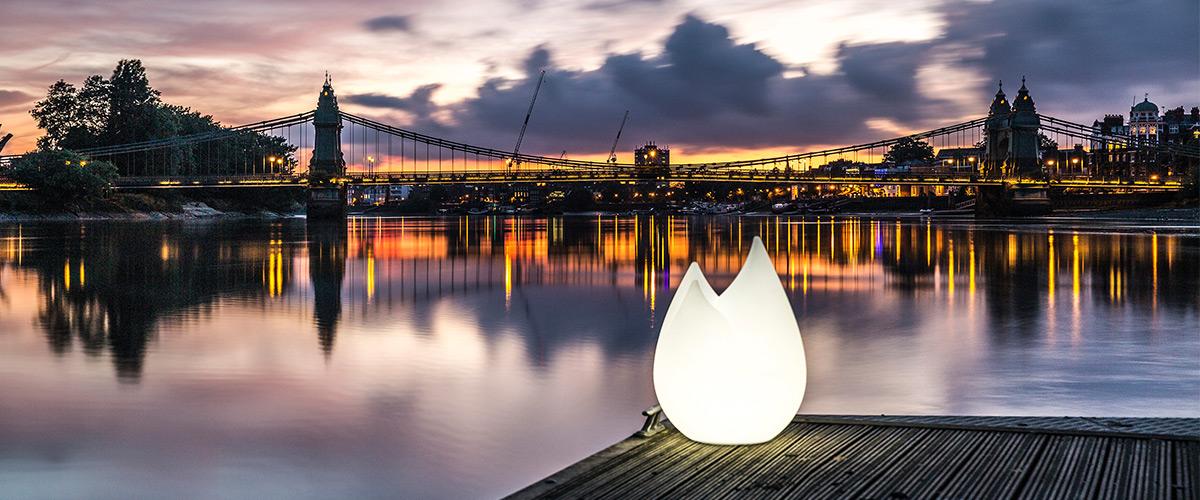 Flame lamp by Sebastian Bergne for Serralunga
