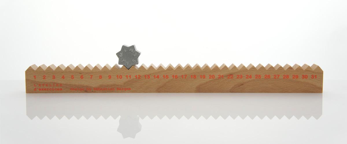 Monthly Measure perpetual calendar by Sebastian Bergne