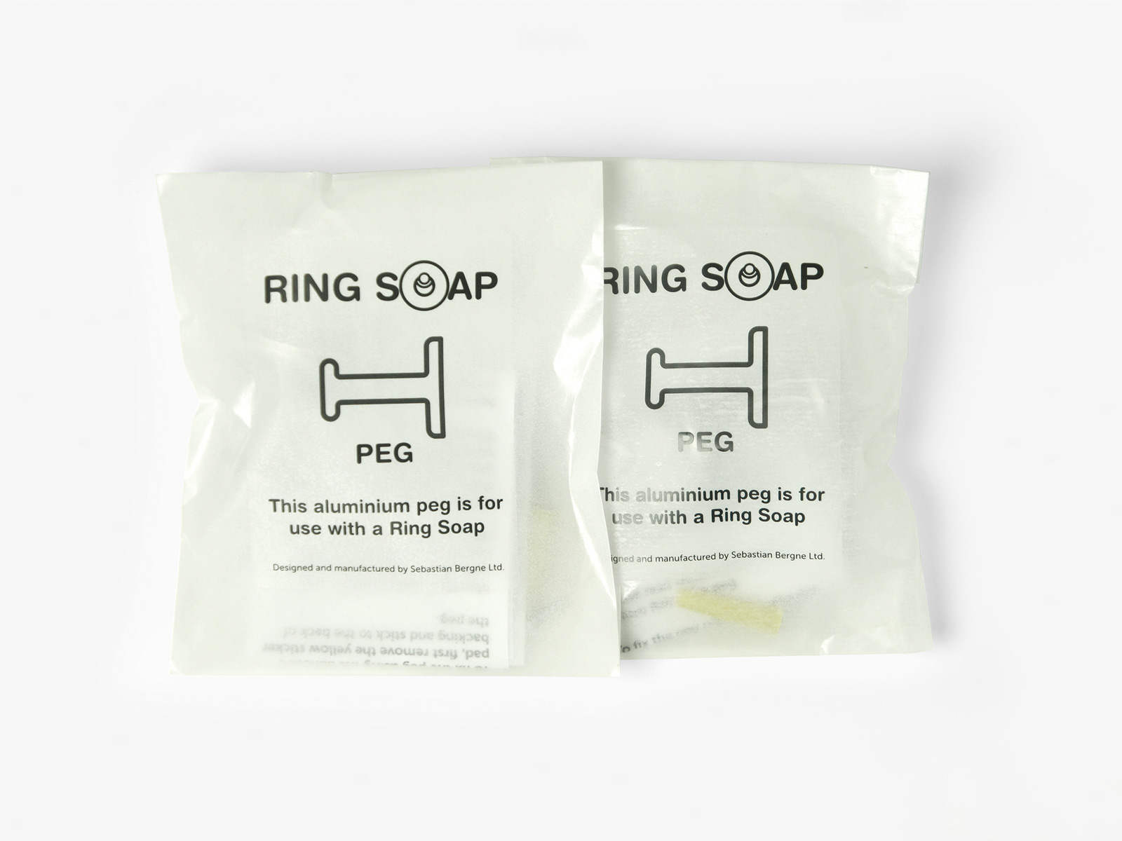 2 Ring Soap peg packets