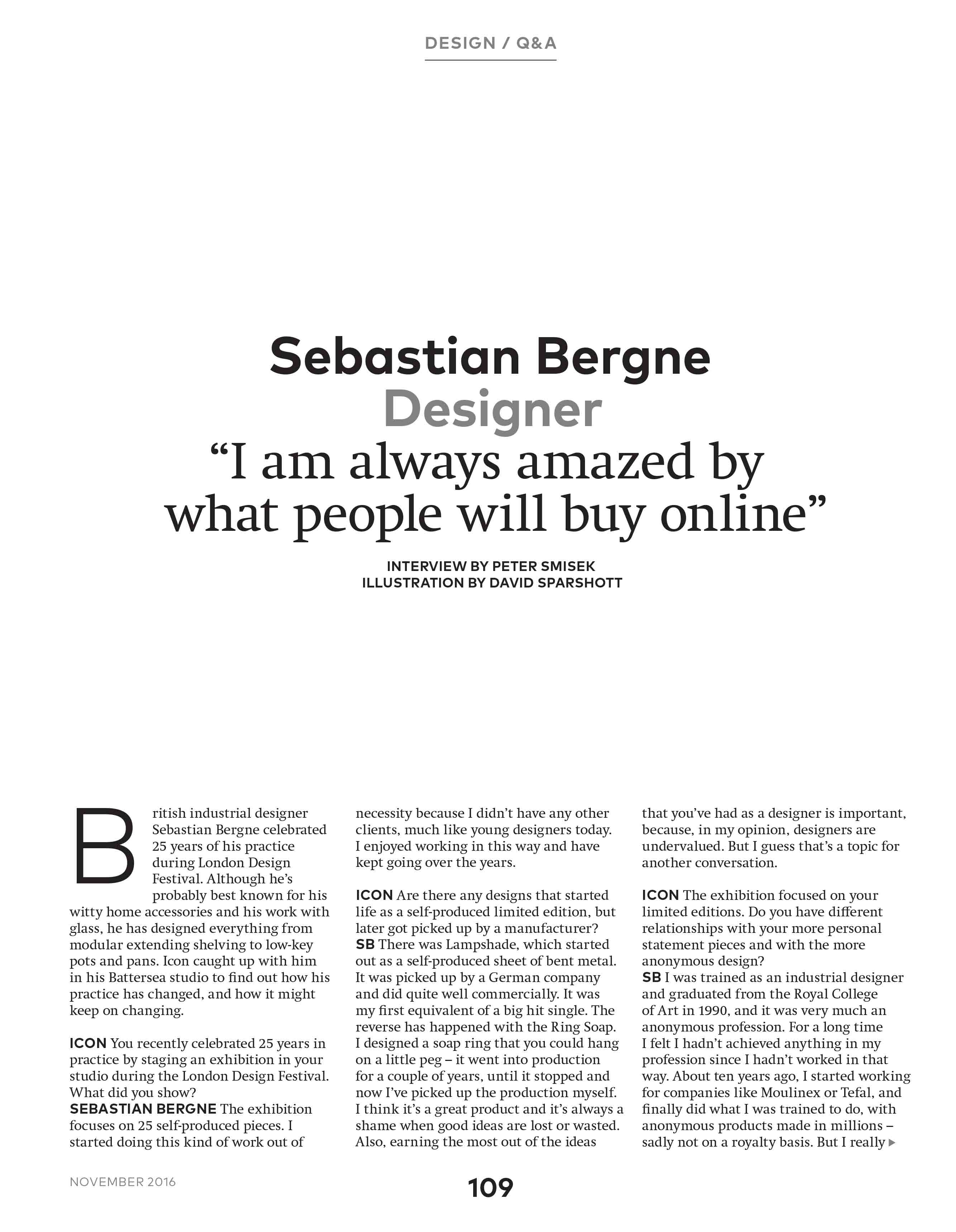 Interview with Sebastian Bergne
